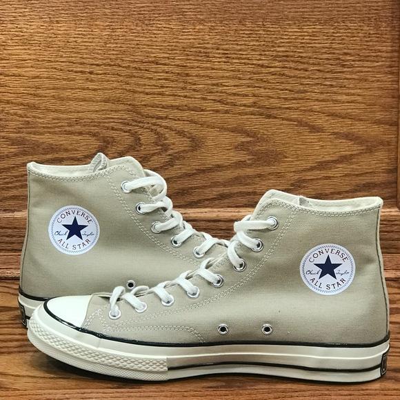 b8415e2a0d3832 Converse CTAS 70 Hi Vintage Khaki Black Shoes